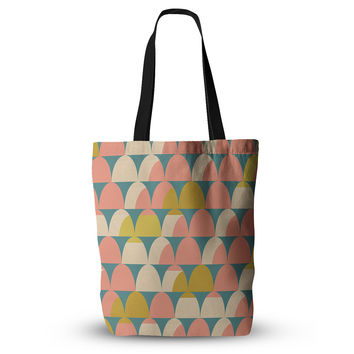 "Michelle Drew ""Scallops"" Pink Teal Everything Tote Bag"