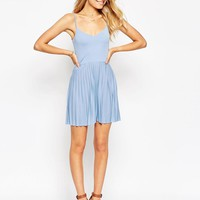 ASOS | ASOS Mini Sundress with Pleated Skirt at ASOS