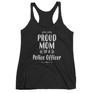 Women's Proud Mom of a Police Officer tank top - Gift for mother of police officer