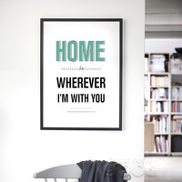 Home Quote Canvas Art Print Poster, Wall Pictures for Home Decoration, Housing FA032