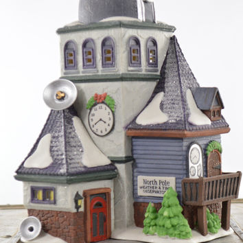 Department 56 North Pole Series Weather & Time Observatory