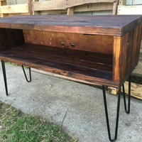 Ron Burgundys XL red mahogany  console table, media stand, tv stand, entertainment center