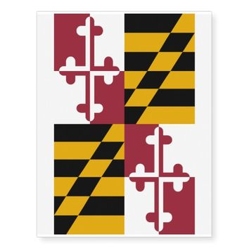 Patriotic temporary tattoos Flag of Maryland