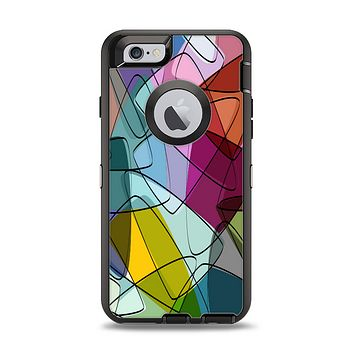 The Colorful Overlapping Translucent Shapes Apple iPhone 6 Otterbox Defender Case Skin Set