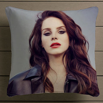 lana del ray beautiful Square Pillow Case Custom Zippered Pillow Case one side and two side