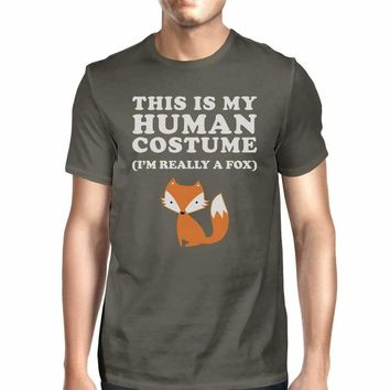 This Is My Human Costume Fox Mens Dark Grey Shirt