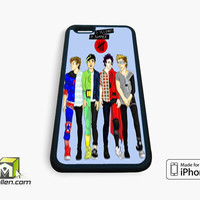 5 seconds of summer drawing iPhone Case 4, 4s, 5, 5s, 5c, 6 and 6 plus by Avallen