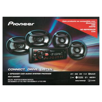 Pioneer 4 Speaker Car Audio System Package
