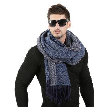 Winter Wool Knitted Cashmere Scarf