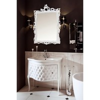 "GM Luxury Zena 33.5"" Bathroom Vanity Cabinet Set Single Sink Glossy Lacquer"