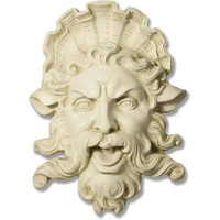 Neptune Trevi Fountain Mask Wall Relief 15H, Assorted Colors - TF6110