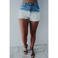 Seize The Day Shorts: Bleached Denim