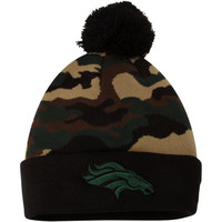 Denver Broncos New Era Camo Top Knit Hat – Green