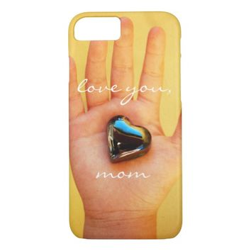 """""""Love you"""" hand & heart photo cell phone case"""