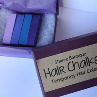 Purple/Periwinkle Colored Hair Chalks  4 Pack  by ShareeBoutique