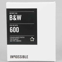 Impossible Black + White Polaroid 600 Instant Film- Assorted One