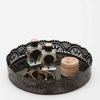Cut Lace Vanity Tray- Black One