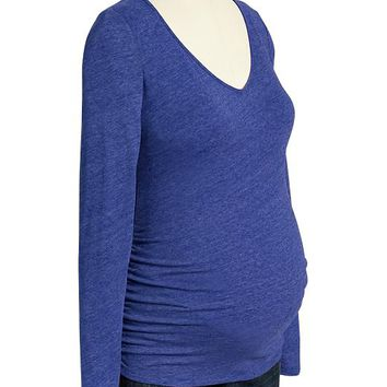Old Navy Maternity Vintage Style Long Sleeve V Neck Tees