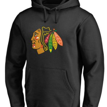 Mens Chicago Blackhawks Old Time Hockey Grant Pullover Hoodie