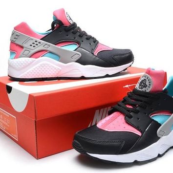 """Nike Air Huarache"" Women Sport Casual Multicolor Air Cushion Sneakers Running Shoes"