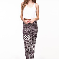 MINERAL WASH TRIBAL LEGGINGS