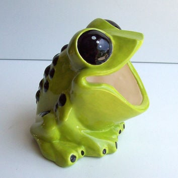 Tree Frog Sponge holder Ceramic Apple Green Great Kitchen Gift Frog Lover