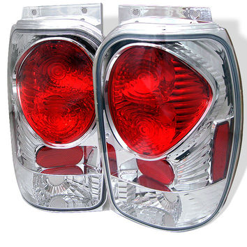 Ford Explorer 98-01 (Except 2001 Sport & Sport Trac) / Mercury Mountaineer 97-01 Euro Style Tail Lights - Chrome