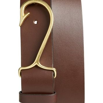 Men's Vineyard Vines 'Fish Hook' Leather Belt,