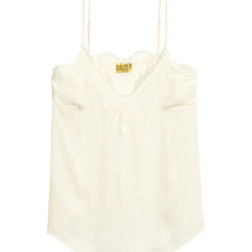 H&M Satin Camisole Top with Lace $25.49