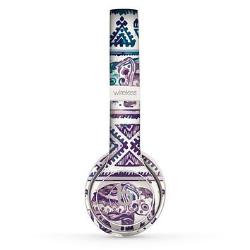 The Tie-Dyed Aztec Elephant Pattern V2 Skin Set for the Beats by Dre Solo 2 Wireless Headphones