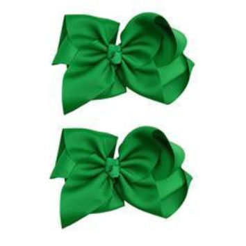 Extra-Large Green Hair Bow Set