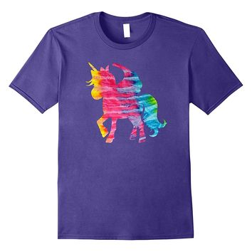 Tie Dye Unicorn Graphic T-Shirt