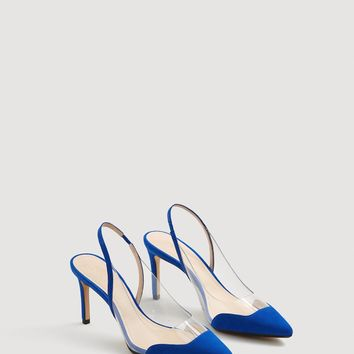 See-through panels stilettos - Women | MANGO USA