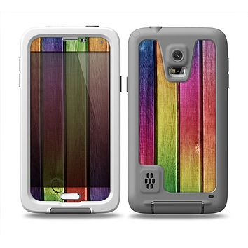 The Colorful Vivid Wood Planks Skin Samsung Galaxy S5 frē LifeProof Case