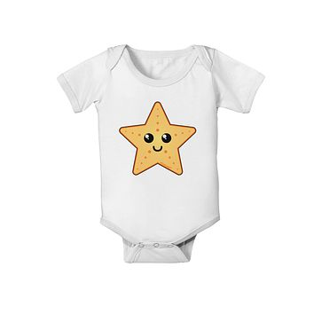Cute Starfish Baby Romper Bodysuit by TooLoud
