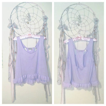 Pastel Purple Lilac Baby Doll Blouse