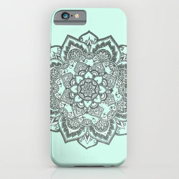 sea foam mandala iPhone & iPod Case by Hannah
