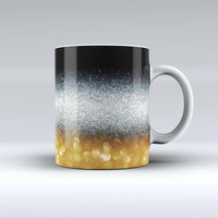 The Unfocused Silver Sparkle with Gold Orbs ink-Fuzed Ceramic Coffee Mug