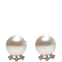 Certain Ratio Faux-Pearl and Crystal Earrings by Tom Binns - Moda Operandi