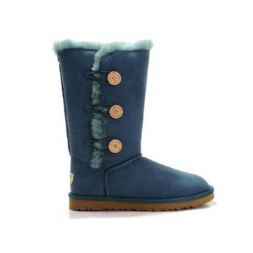 Ugg Boots Black Friday Bailey Button Triplet 1873 Turquoise For Women 83 46