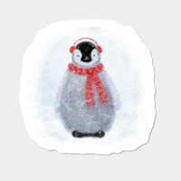Chilly Little Penguin Sticker By Noondaydesign Design By Humans