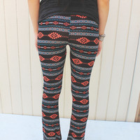 Bell Bottom Pants - Southwestern Print