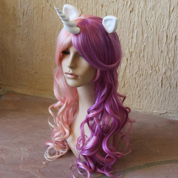 Sweetie Belle cosplay wig - My Little Pony costume / Friendship is Magic / sweetie belle costume / pink and purple wig