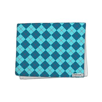 "Blue Argyle AOP 11""x18"" Dish Fingertip Towel All Over Print by TooLoud"