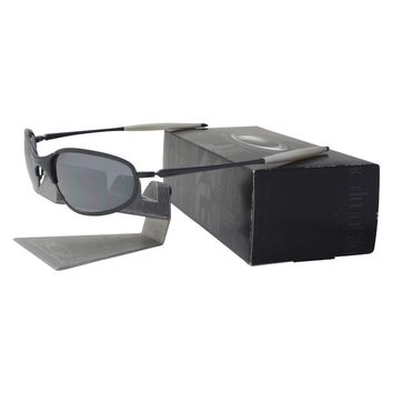Oakley 05-565 A WIRE Brushed Thick Black Iridium Mens Collector Sunglasses .