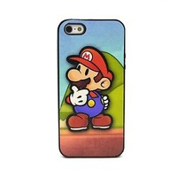 New Nintendo Super Mario Brothers iPhone 5 5s cover case Free Film for apple