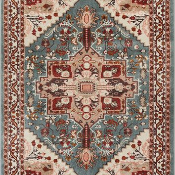 2929 Blue Vintage Medallion Persian Area Rugs
