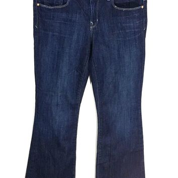 Gap 1969 Perfect Boot Dark Wash Jeans Stretch Womens 29 / 8 a - Preowned