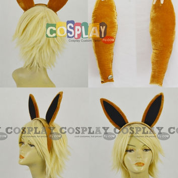 Evee Cosplay (Tail and Ears) from Pokemon - Tailor-Made Cosplay Costume