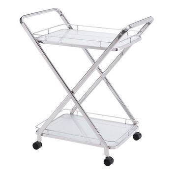 Vesuvius Serving Cart Stainless Steel Stainless Steel